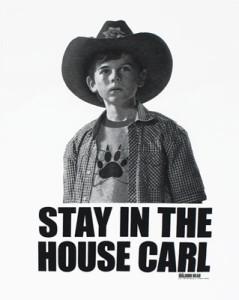 """Immagine maglietta """" Stay in the house carl"""""""