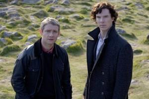 John Watson (Martin Freeman) e Sherlock Holmes (Benedict Cumberbatch)