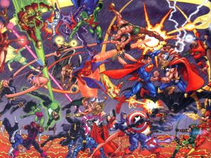 JLA vs Avengers (by George Perez)