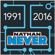 25 anni di Nathan Never il logo creato per l'occasione da Sergio Bonelli Editore