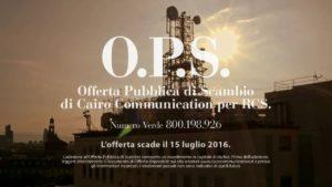 Cairo-Rcs: l'ops Cairo Communication