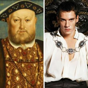 """Il vero Enrico VII a confronto con l'attore Jonathan Rhys Meyers che lo ha interpretato nella serie tv """" I Tudors"""