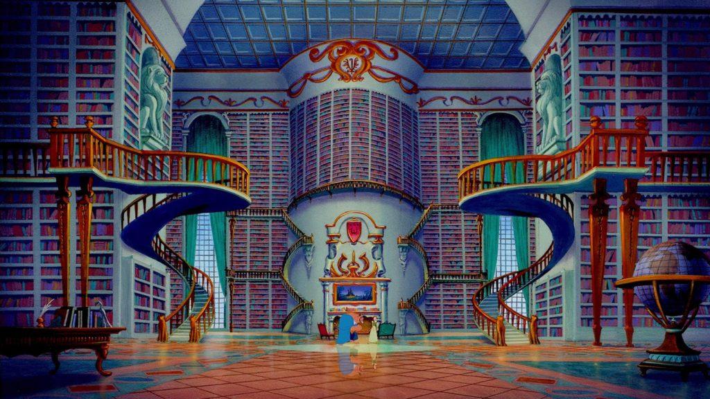 la biblioteca ne la bella e la bestia è il sogno di molte ragazze. Probabilmente più che il diamante al dito.