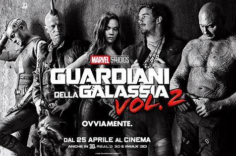 Il poster del nuovo capitolo dei Guardiani della Galassia Vol 2