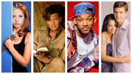 Serie tv anni 90: Buffy Summers - Indiana Jones - WIlly Il Principe di Bel Air - Dawson's Creek