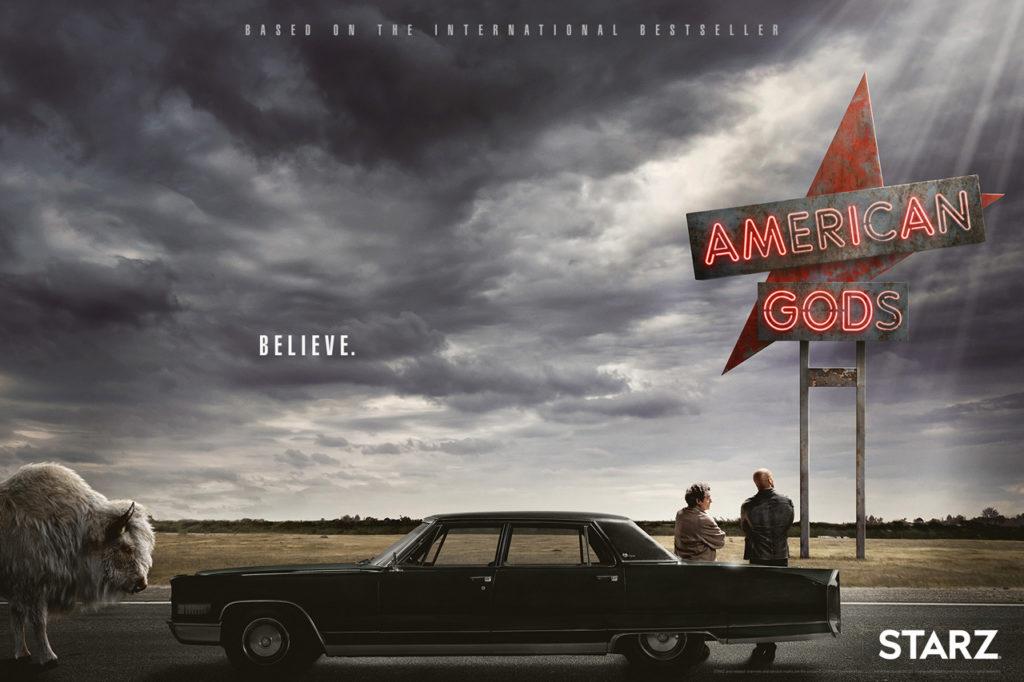 Il poster del Pilot di American Gods, in uscita il 1 maggio 2017.