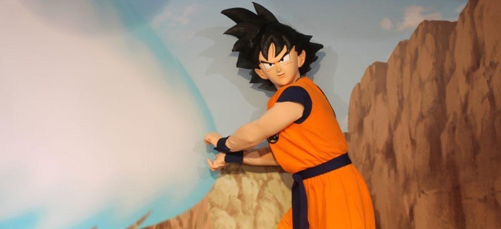 Goku al padiglione di Dragon Ball Super