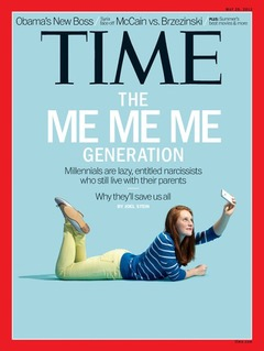 Copertina del Time che descrive i Millennials