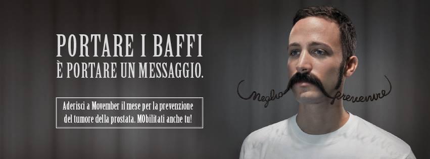 Locandina per il Movember 2017 della Lilt, la Lega Italiana Lotta Tumori