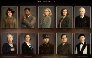 Assassinio sull'Orient Express i protagonisti in stile cluedo