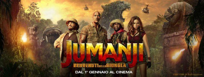 Banner orizzontale del film Jumanji Benvenuti nella giungla