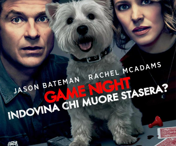 locandina del film game night indovina chi muore stasera con jason bateman e rachel mcadams
