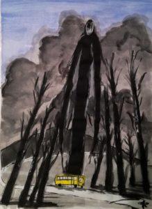 Slender Man, illustrazione di Giulia Repetto