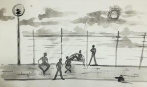 I cinque studenti, illustrazione di Giulia Repetto