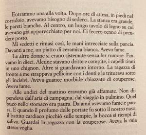 Le assaggiatrici di Rosella Postorino estratto dal primo capitolo