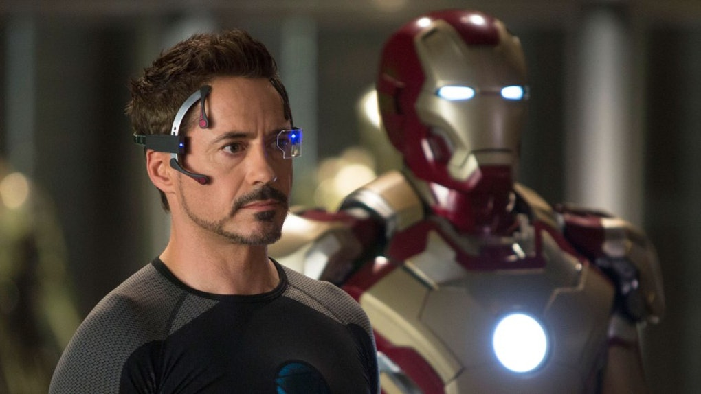 tony stark in una scena di Iron Man 3