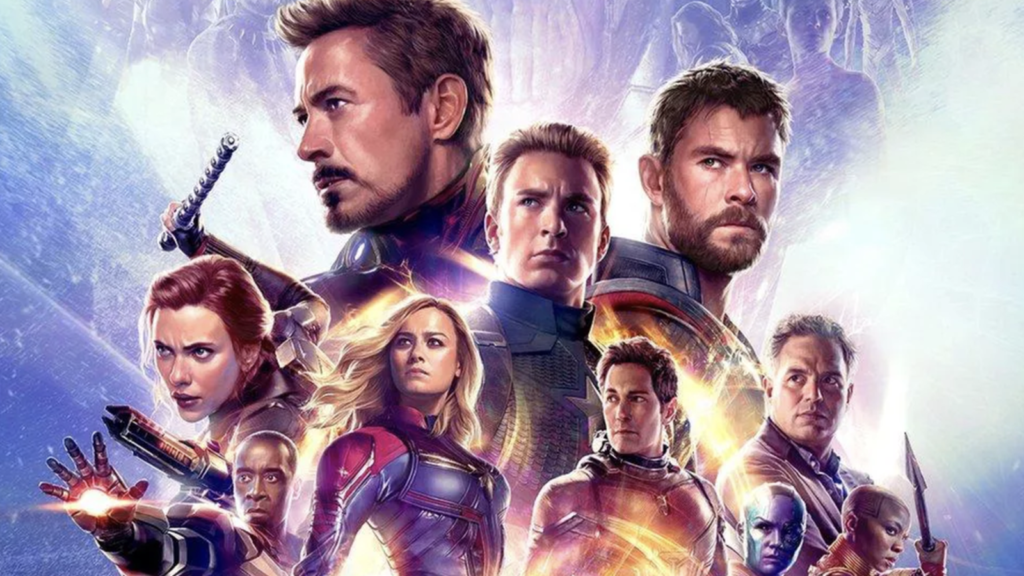 Banner orizzontale di avengers endgame