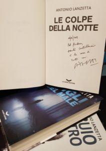 Le colpe della notte di Antonio Lanzetta autografo