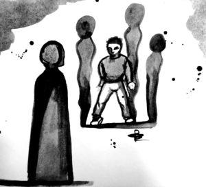 Le colpe della notte, illustrazione di Giulia Repetto