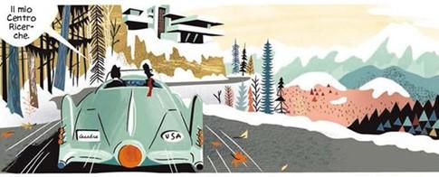 Una vignetta del fumetto souvenir dell'impero dell'atomo