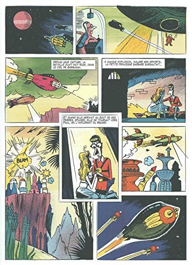 Una tavola del fumetto Souvenir dell'impero dell'atomo