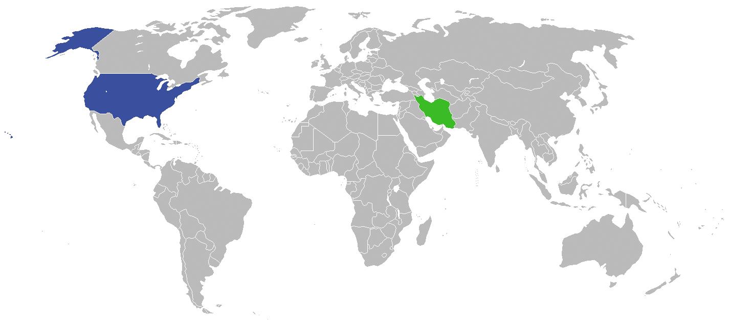 Usa e Iran sul planisfero