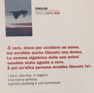retro di Donne che non perdonano di Camilla Läckberg foto originale di Silvia Liotta