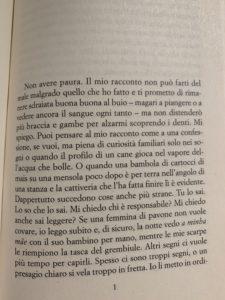 Prima pagina de Il Dono di Toni Morrison - foto originale di Silvia Liotta