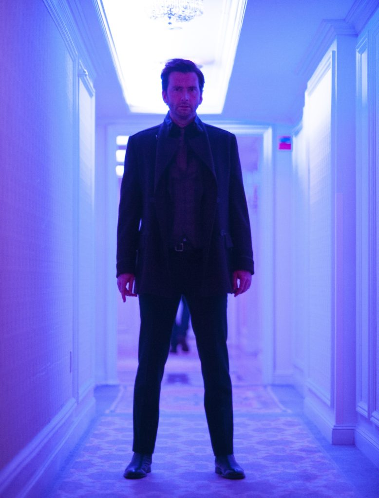 silhouette di David Tennant divenuto KIlgrave in Jessica Jones