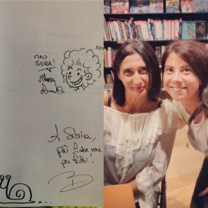 L'autrice Barbara Fiorio con Silvia Liotta