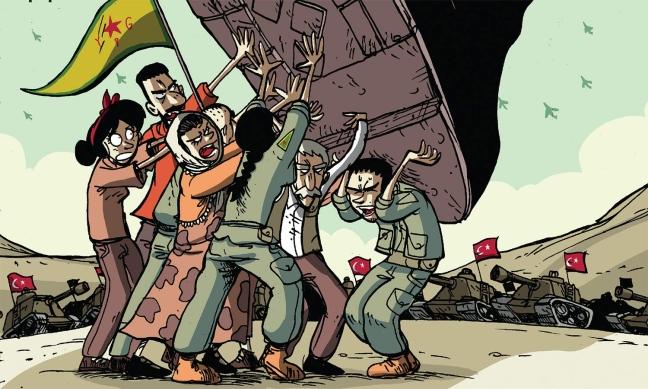L'invasione turca della Sira secondo Zerocalcare