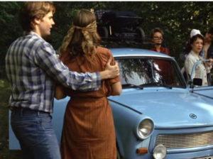 Una Trabant blu cielo consegnata in tre anni soltanto!