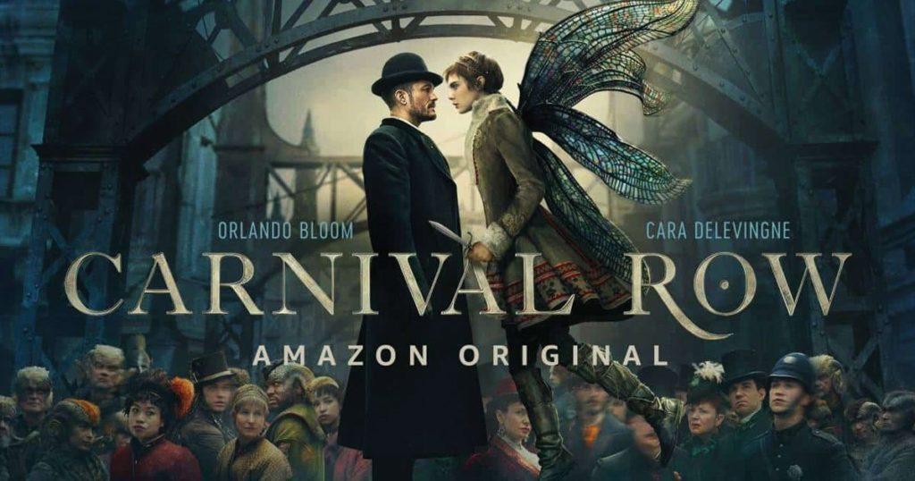 La locandina di Carnival Row, nuova serie di amazon prime video con orlando bloom e cara delevigne
