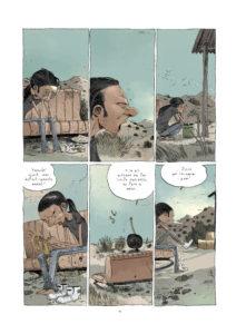 Una pagina del fumetto Appuntamento a Phoenix di Tony Sandoval