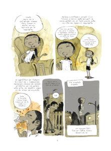Una pagina del fumetto di Tony Sandoval
