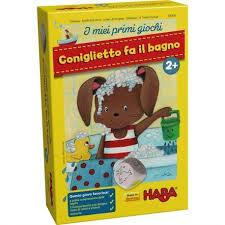 gioco da tavola da regalare ai bambini dai 2 ai 4 anni: coniglio fa il bagno