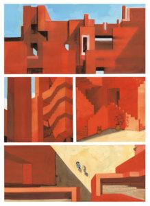 Celestia - Manuele Fior - Le architetture del castello rosa