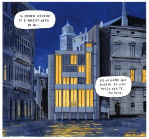 Celestia - Manuele Fior - Un palazzo sulla laguna, di notte