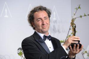 Paolo Sorrentino alla premiazione oscar come miglior film per La Grande Bellezza