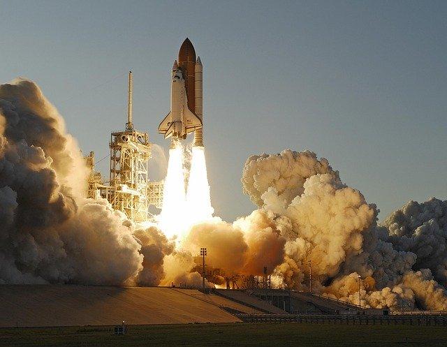 Shuttle per rappresentare il lancio nello spazio di Parmitano