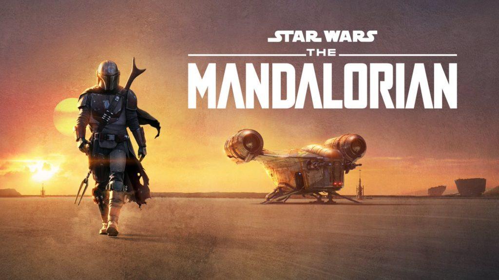 the mandalorian: la locandina del prodotto Disney + con il protagonista Mando