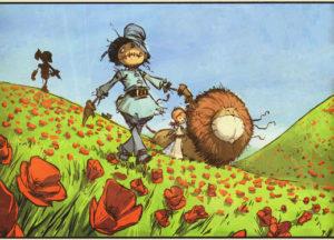 Una immagine dei protagonisti de Il mago di Oz fumetto