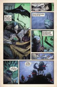 Tavola dal primo volume del ciclo Il mago di Oz fumetto