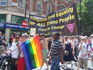 Per illustrare il tema della disforia di genere, abbiamo scelto questa foto di una marcia per i diritti delle persone trans negli States