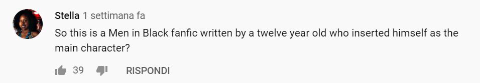 """commenti sul trailer di artemis fowl: """"quindi questo è una fanfiction di Men in Black scritta da un dodicenne che ha inserito se stesso come personaggio principale?"""""""