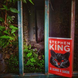 Copertina della nuova antologia di Stephen King, intitolata Se scorre il sangue.