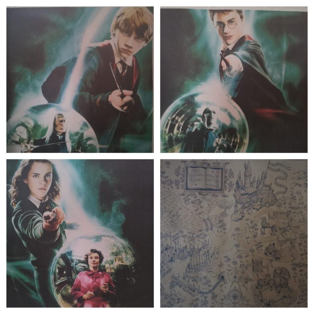 Harry Potter non mi piace, però a mia sorella sì: ha quindi costruito un collage di foto per me.