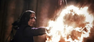 L'incantesimo Expelliarmus di Severus Piton in Harry Potter e la camera dei segreti