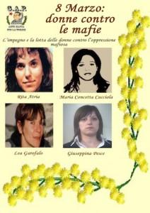 8 Marzo: donne contro le mafie