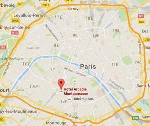 Posizione Hotel - Cartina Parigi